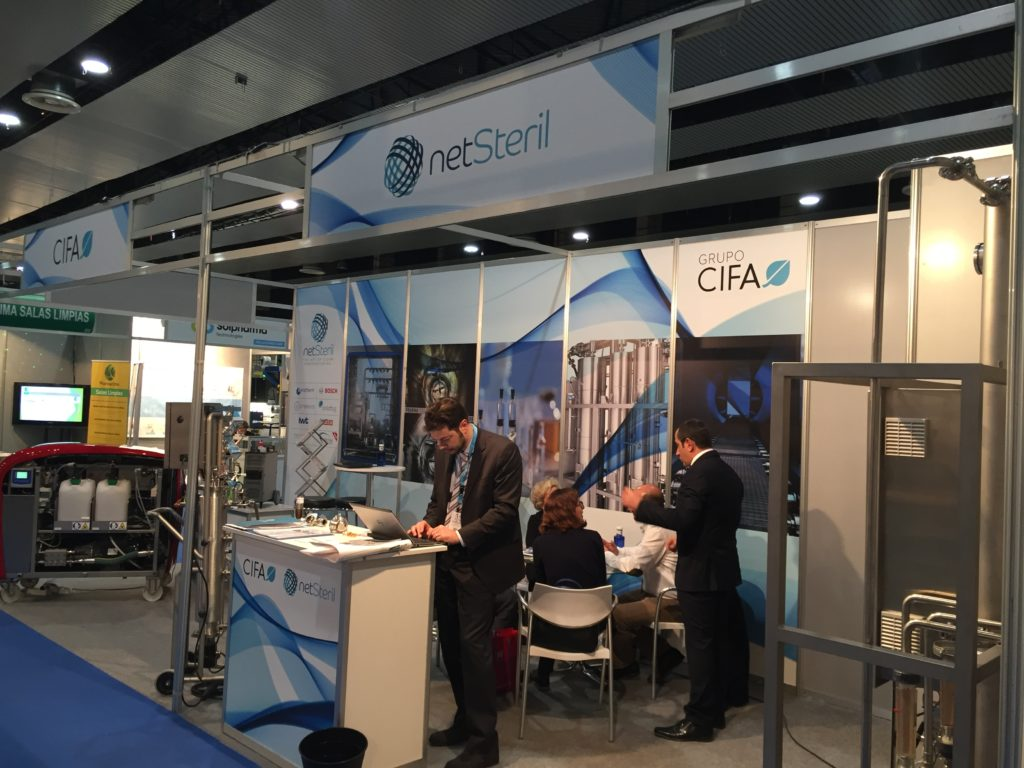 Stand Cifa y Netsteril en Farmaforum 2018