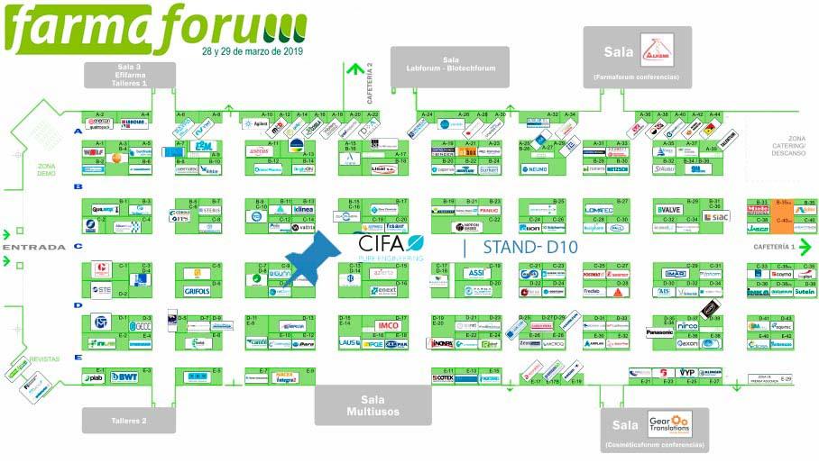 Cifa estará presente en el stand D-10 de Farmaforum 2019