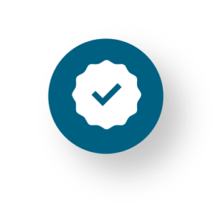 Icono que representa la calidad y cumplimiento de normativas como una de las claves del servicio de CIFA