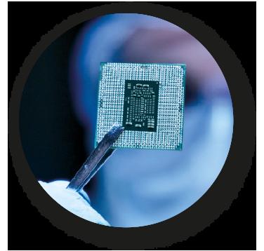 Imagen que representa la industria microelectrónica y aeroespacial como uno de los sectores de actividad de CIFA