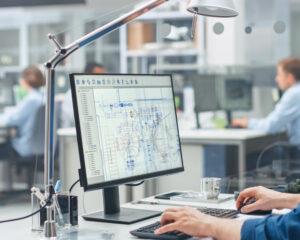 Imagen de la fase de ingeniería y diseño de una instalación para la industria farmacéutica de CIFA Instalaciones