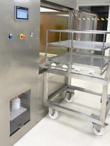 Carga de materiales en SAS de biodescontaminación - PB VH2O2 de Neopure